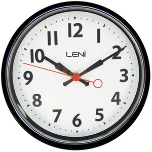 Leni Essential Wall Clock - Black