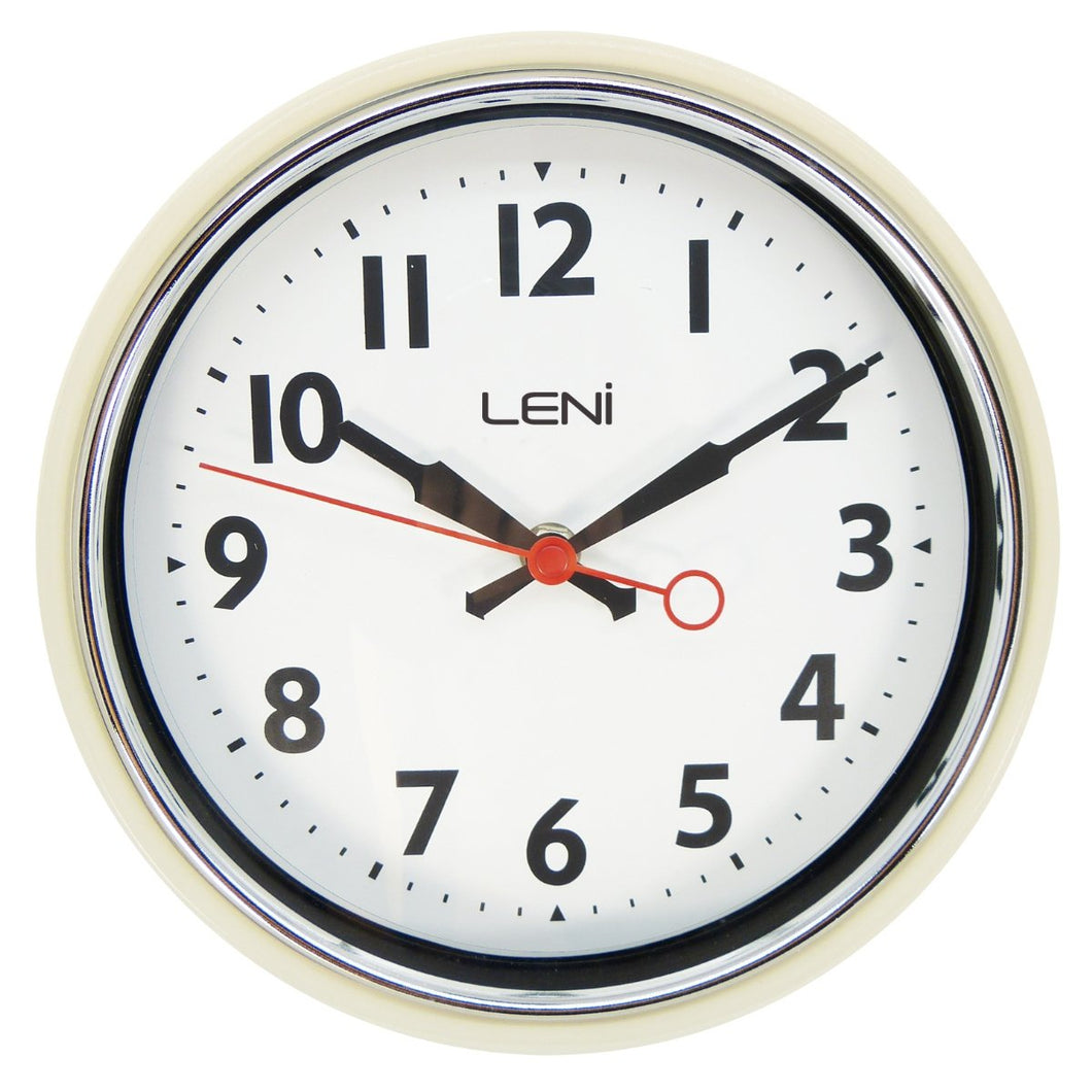Leni Essential Wall Clock - Ivory