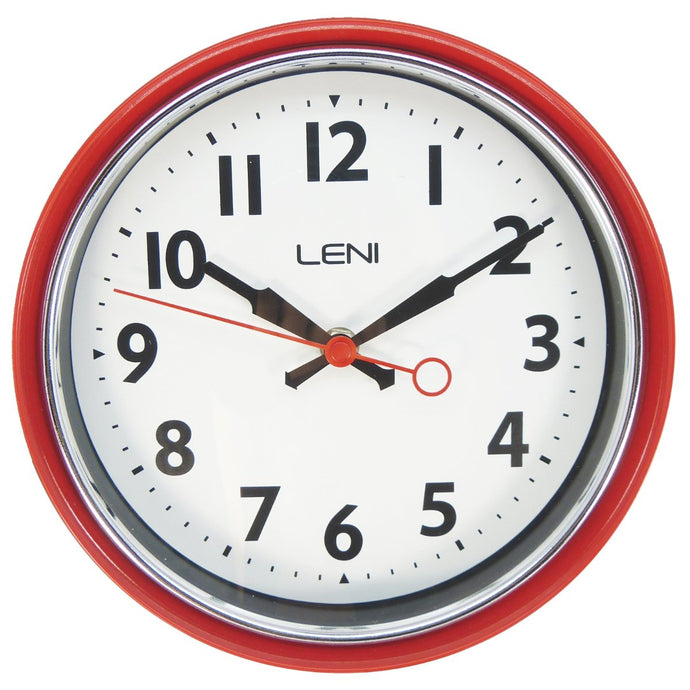 Leni Essential Wall Clock - Red