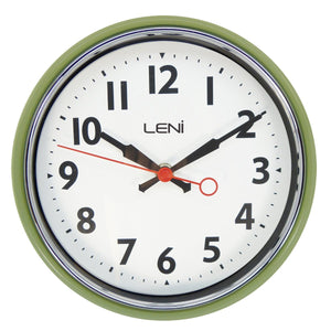 Leni Essential Wall Clock - Sage Green