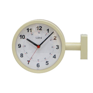 Leni Station Wall Clock - Ivory