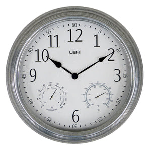 Leni Outdoor Clock - Galvanised