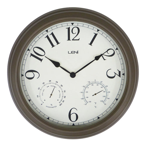 Leni Outdoor Clock - Old Gold
