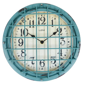 Leni Outdoor Clock - Antique Green