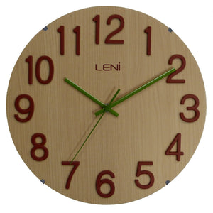 Leni Woody Wall Clock