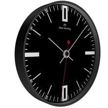 Black Steel Case Manly Wall Clock
