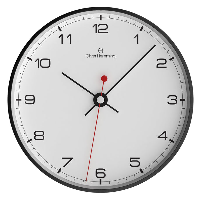 Black Steel Case Simplex Wall Clock Numbers