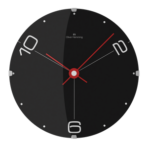 Domed Black Contemporary Wall Clock