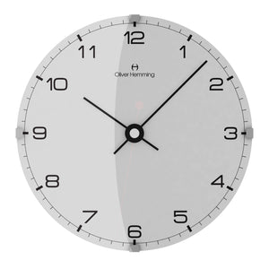 Domed Vitri Numbered Wall Clock