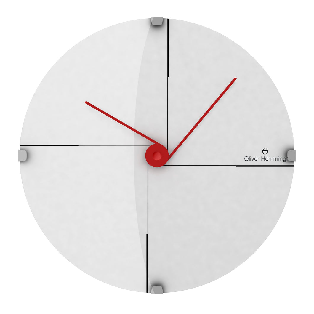 Domed Vitri Funky Wall Clock