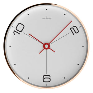 Rose Copper Contemporary Wall Clock