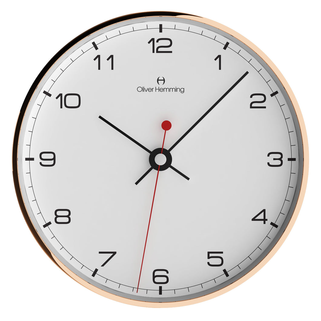 Rose Copper Simplex Wall Clock Numbers