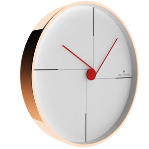 Rose Copper Funky Wall Clock