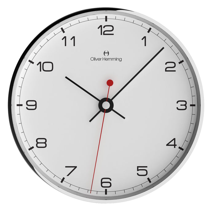 Chrome Case Simplex Wall Clock Numbers