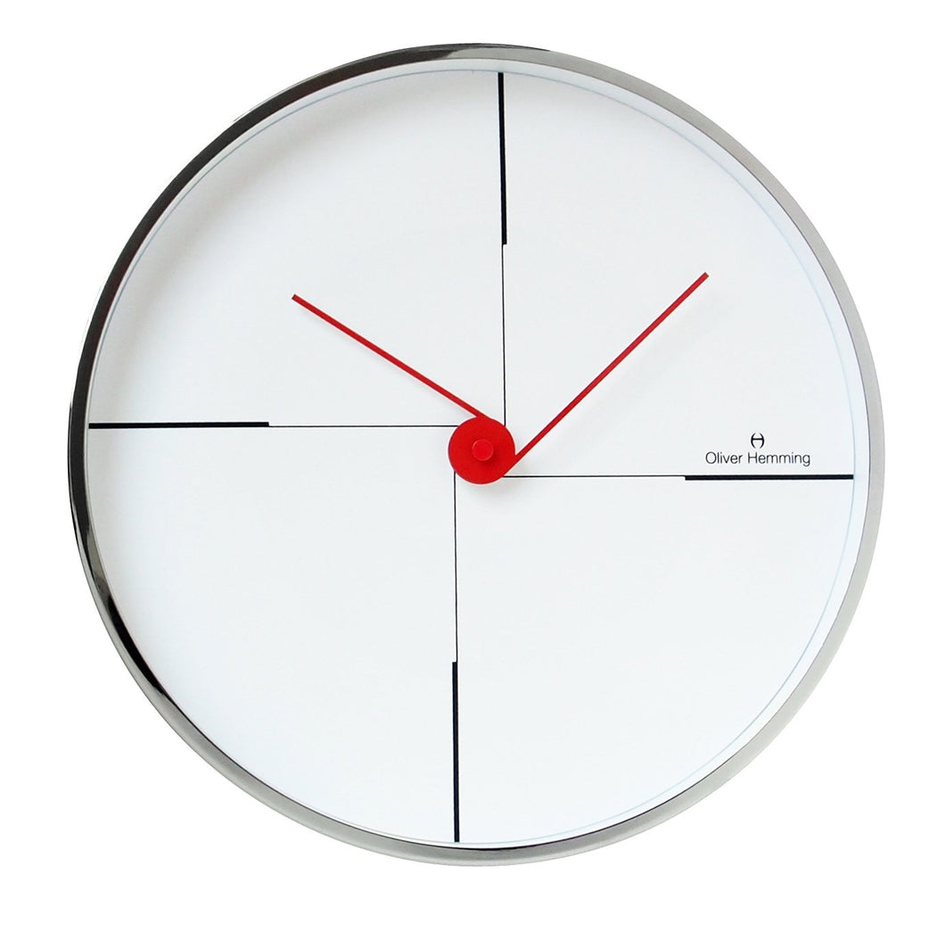 Chrome Case Funky Wall Clock
