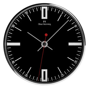 Chrome Steel Case Manly Wall Clock