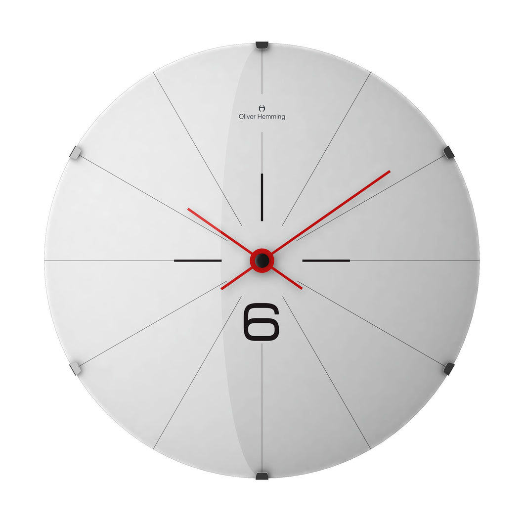 Large Domed Vitri Modern Simple Wall Clock