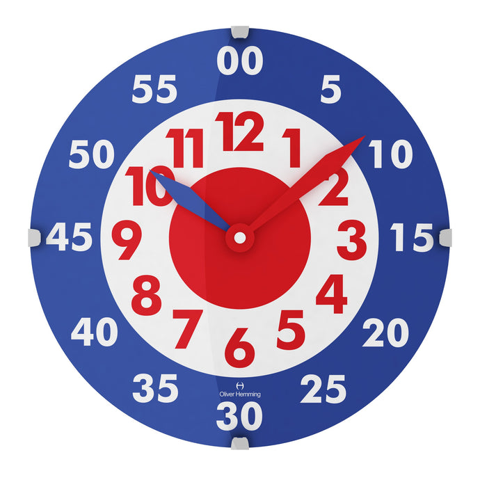 Domed Vitri Kids Complete Wall Clock