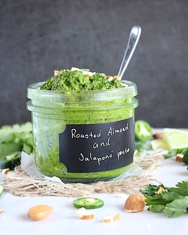 Roasted Almond & Jalapeño Gut Healing Pesto