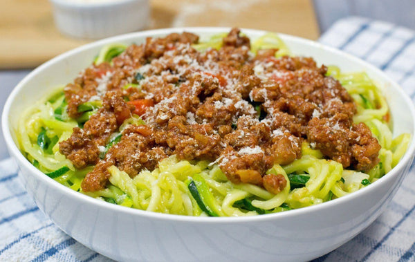 Pork Bolognese with Zoodles
