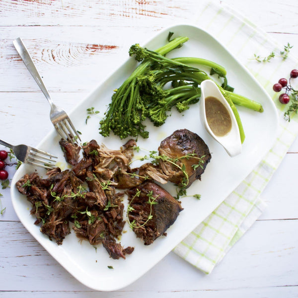 Slow Roasted Lamb with Gut Friendly Flourless Gravy