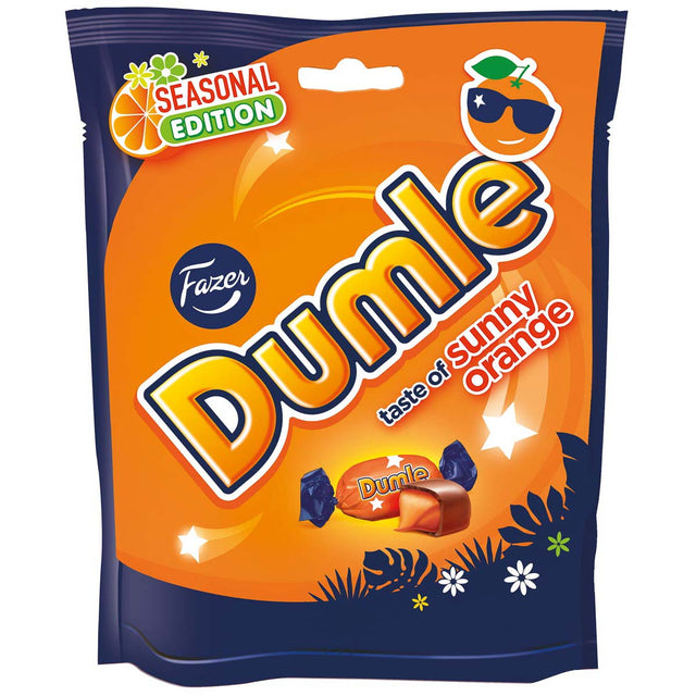 Dumle Seasonal 220 g Sunny Orange - Fazer Candy Store