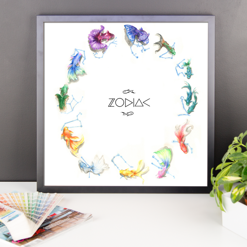 Sea of Constellations Zodiac Wall Art