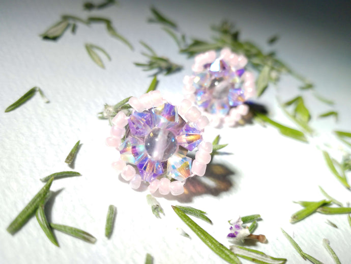 Fluorite Candy Pink Post Earrings