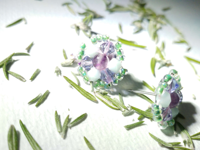 Fluorite Mint Post Earrings