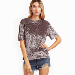 Casual Loose Velvet Top - Legit Chic