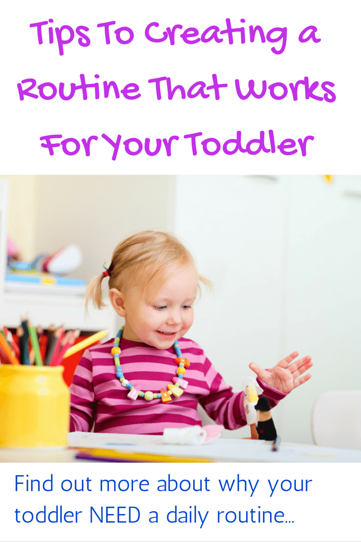 Tips to creating a routine that works for your toddler
