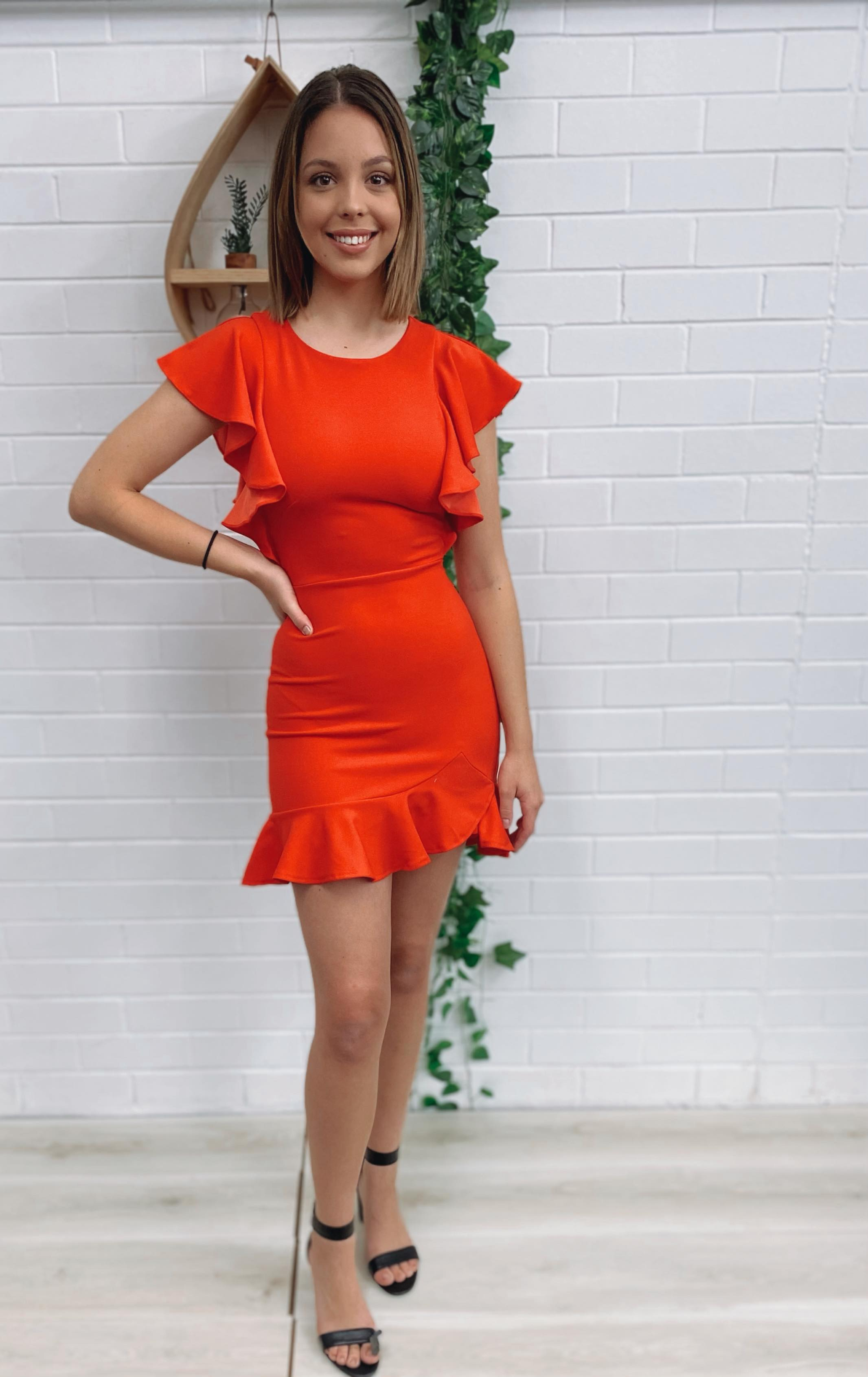 Eden Dress - Red