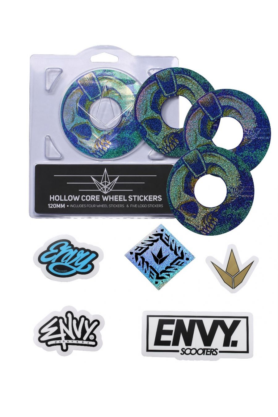 120mm Wheel Stickers Envy
