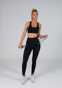 Unit Activewear Control Strap Ladies Sports Bra - Black