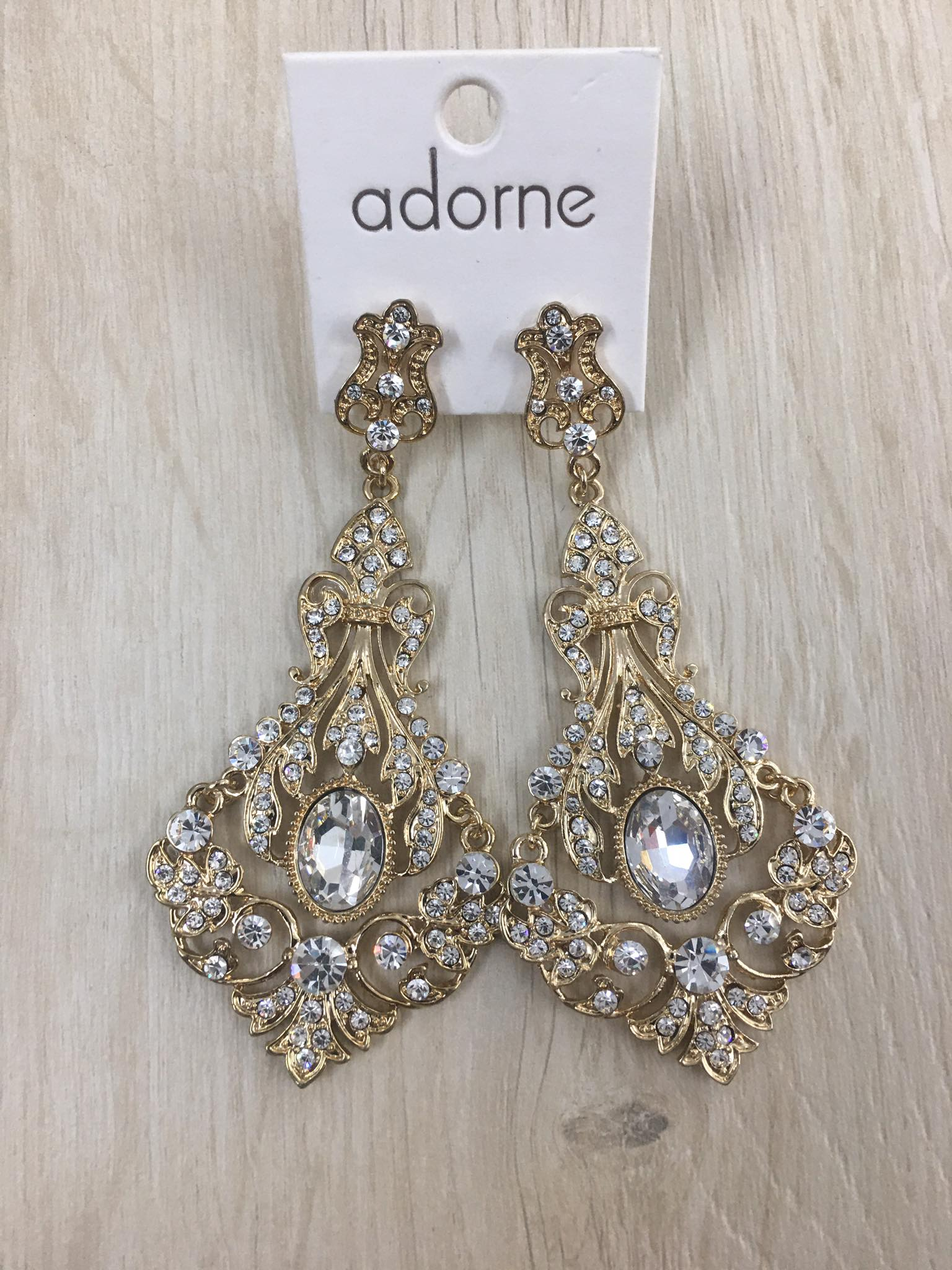 Make A Statement Gold Drop Earrings