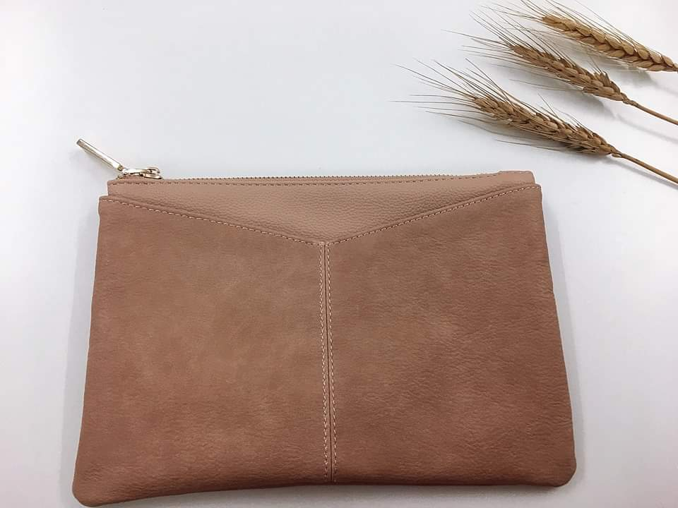 Nude Clutch Envelope Style