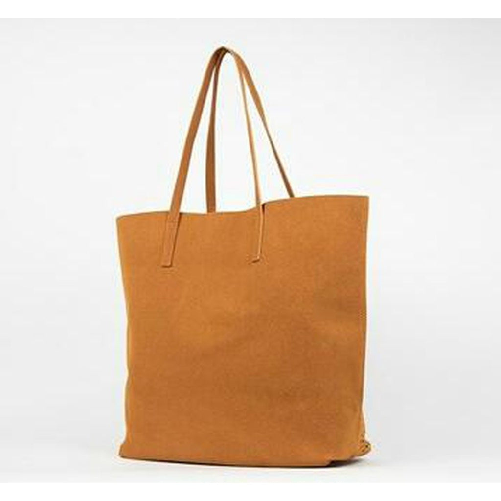 Cut Out Tote Bag Large In Camel