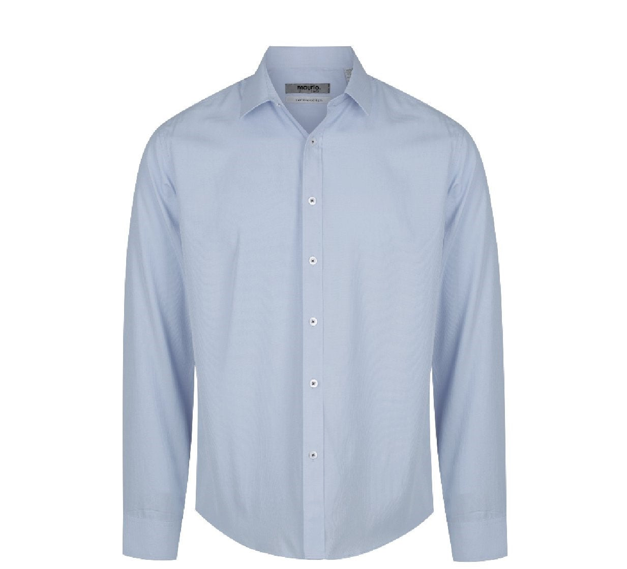 Maurio Mens LS Dress Shirt - Light Blue
