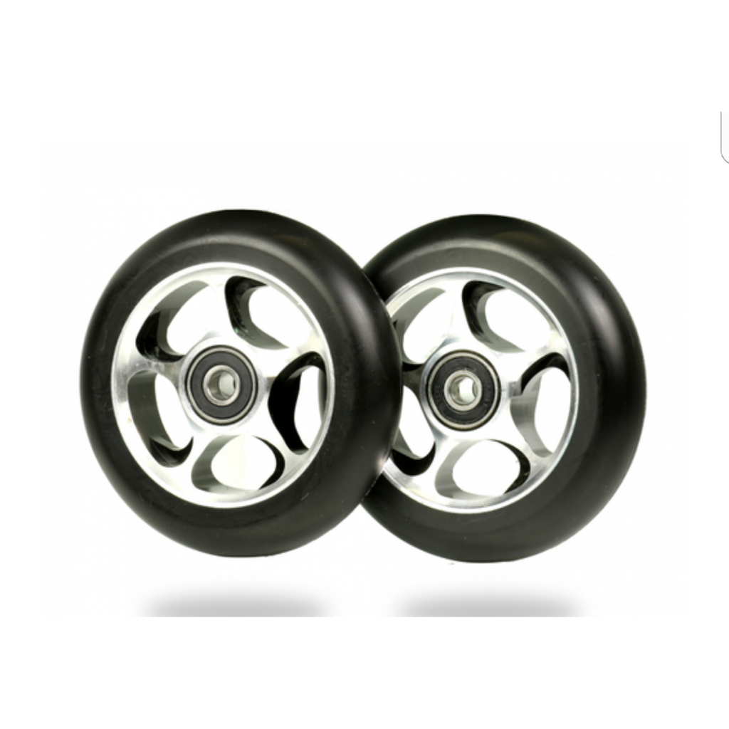 Root Industries ReEntry 100mm Wheels Pair Black/Silver