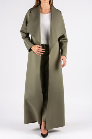 Green Neoprene Colored Abaya