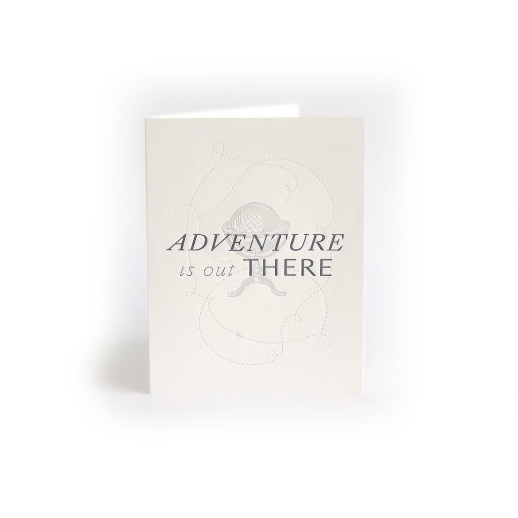 Adventure is Out There greeting card