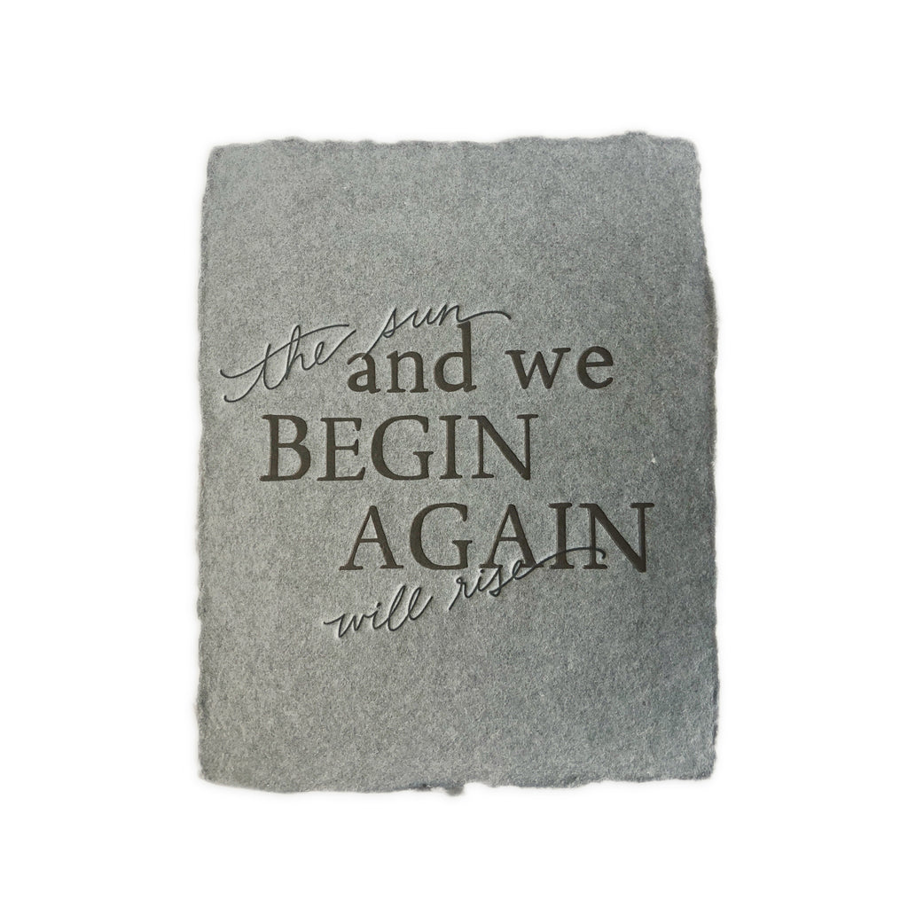 And We Begin Again greeting card