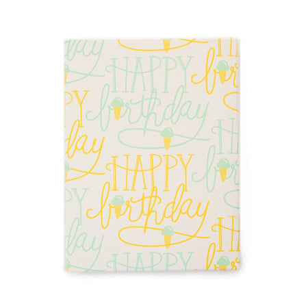Birthday Cones Gift Wrap Roll
