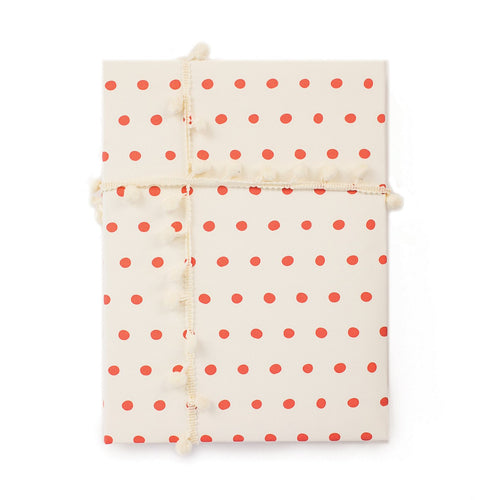 Dots Orange Gift Wrap Roll