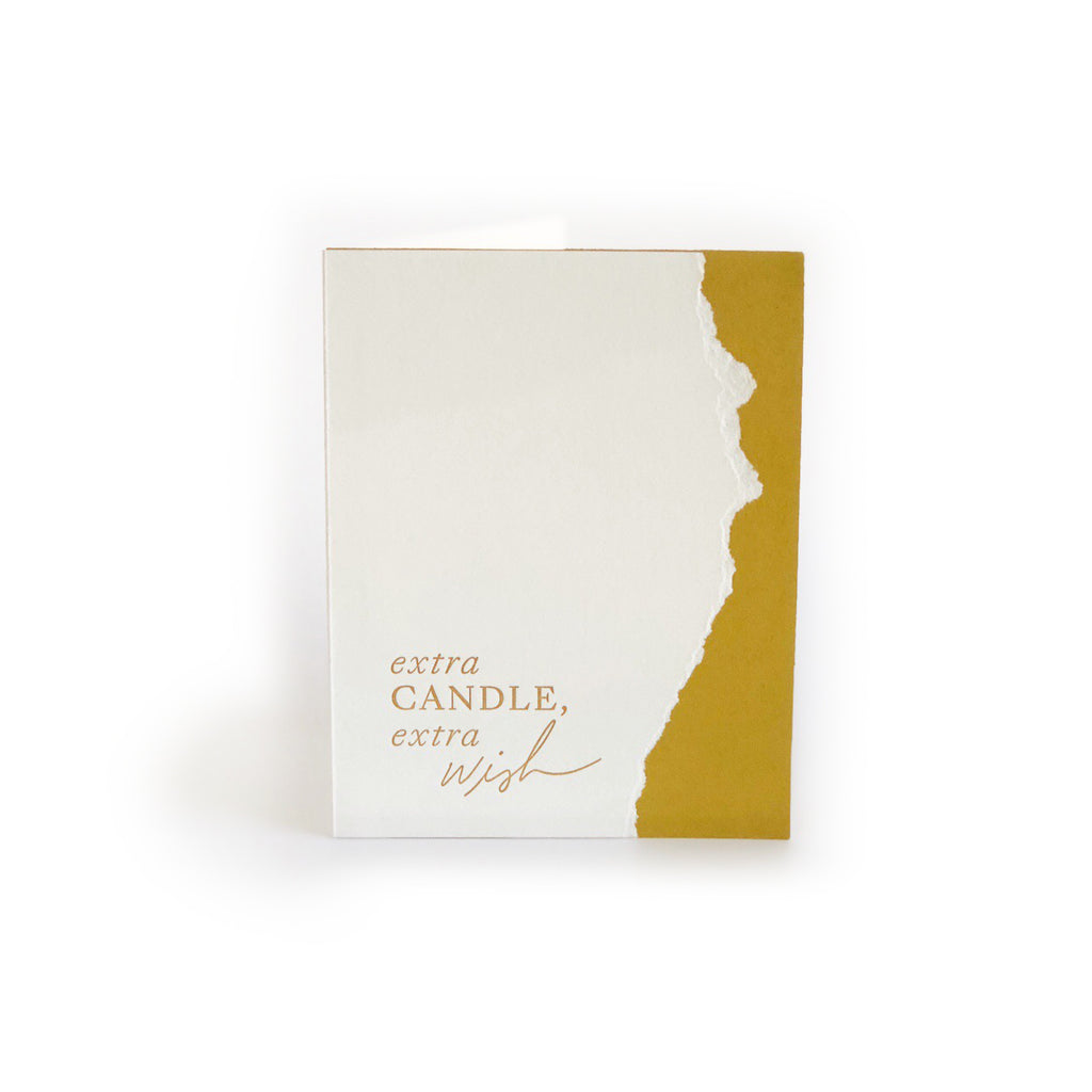 Extra Candle, Extra Wish greeting card