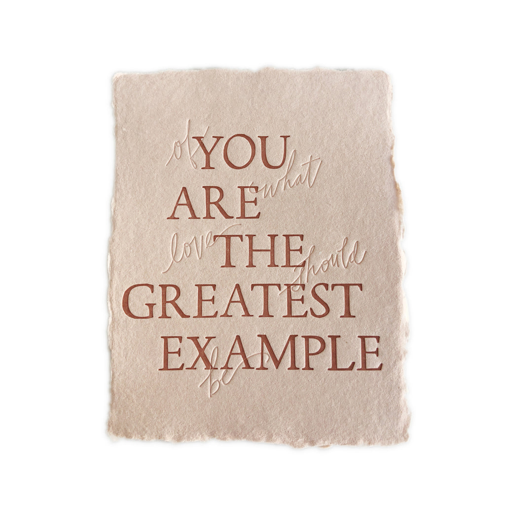 You Are The Greatest Example greeting card