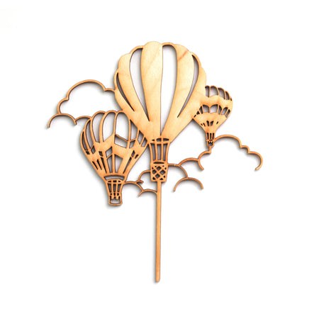 Hot Air Balloons Cake Topper