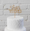 Just Hitched Cake Topper