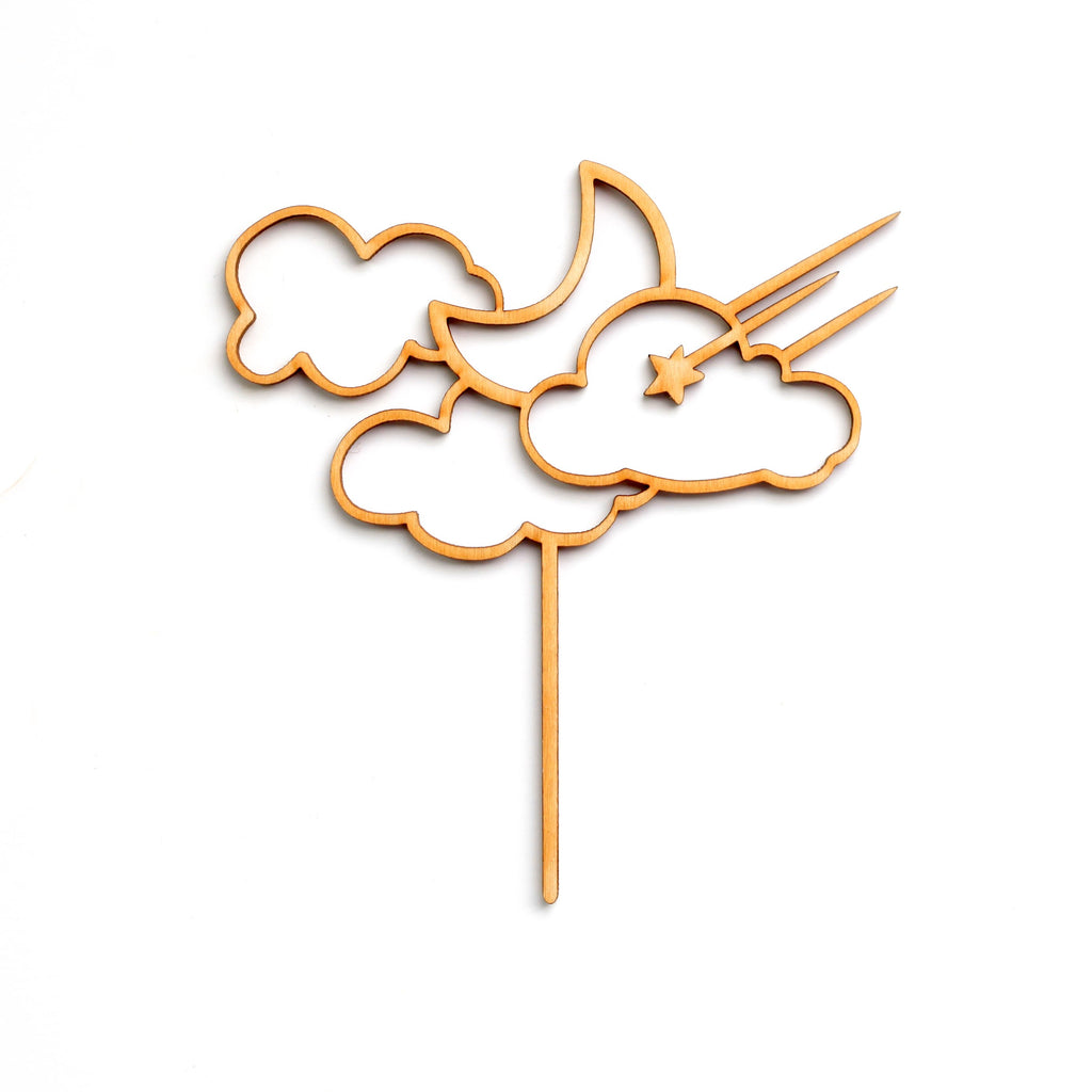 Moon & Clouds Cake Topper
