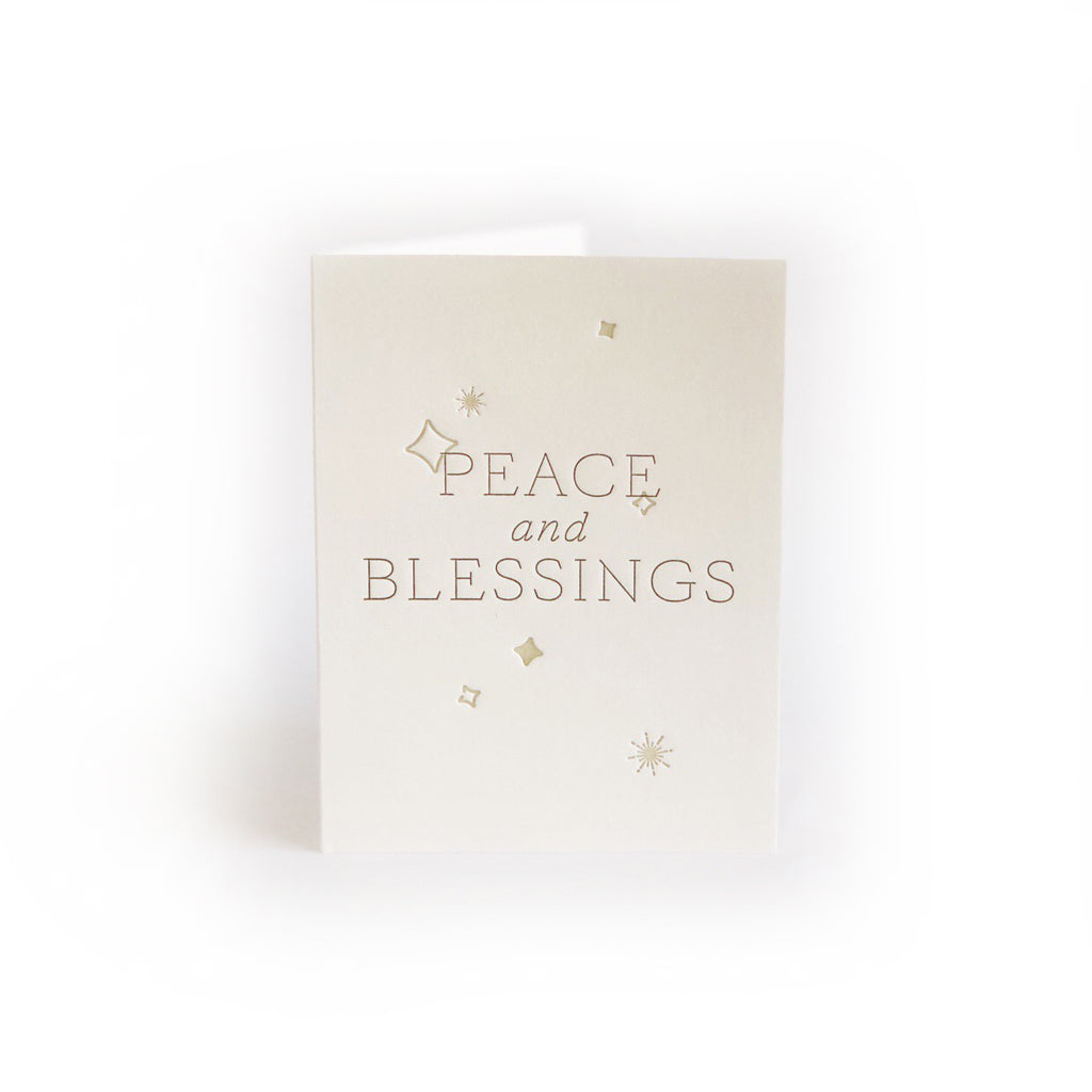 Peace & Blessings greeting card